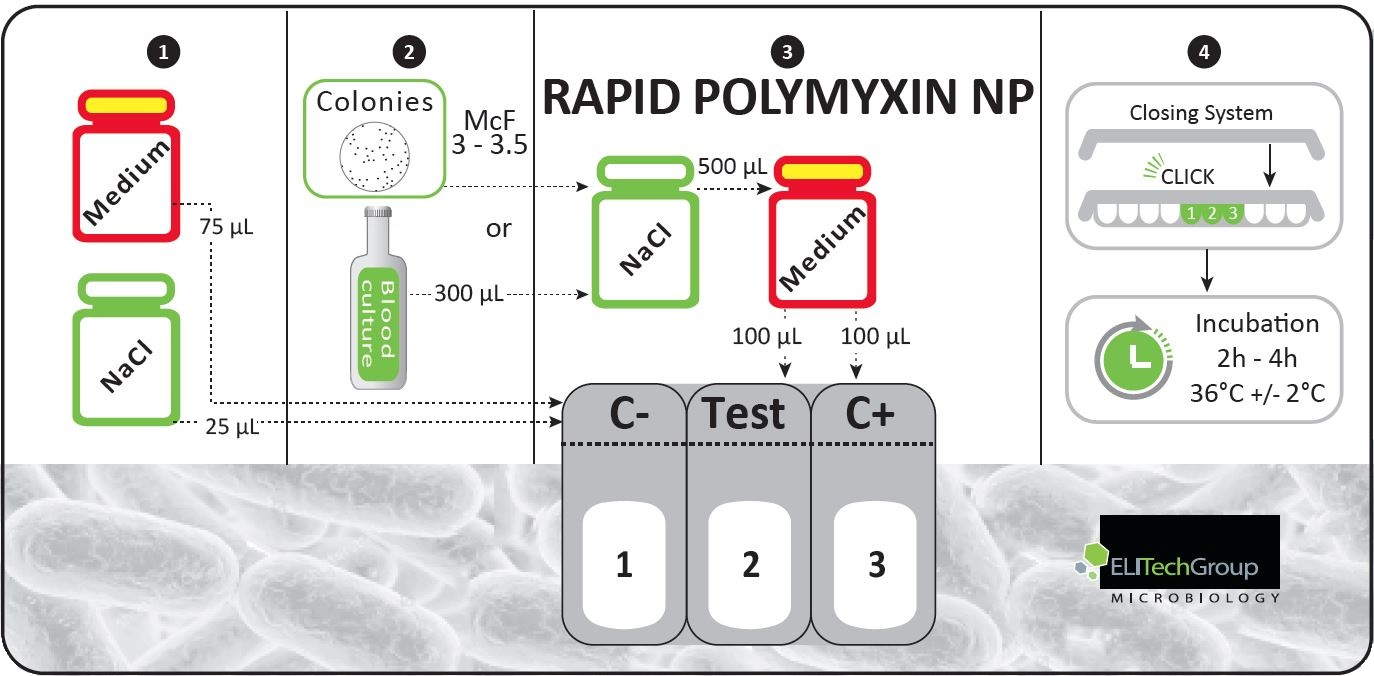 rapid polymyxin np elitechgroup in vitro diagnostic equipment